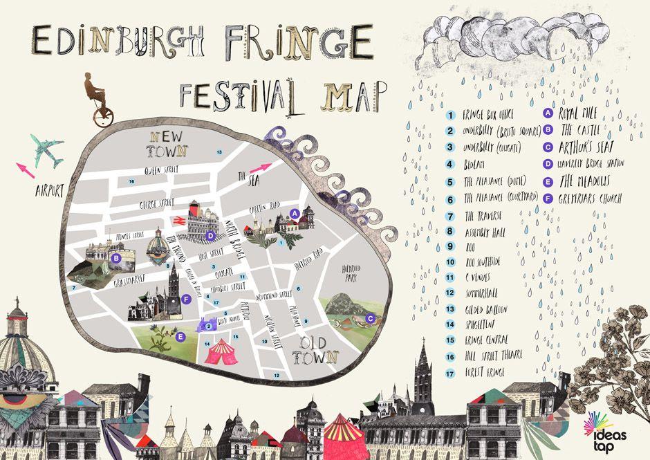 Edinburgh Fringe Map If you're an Edinburgh Fringe newbie, this quaint little is just