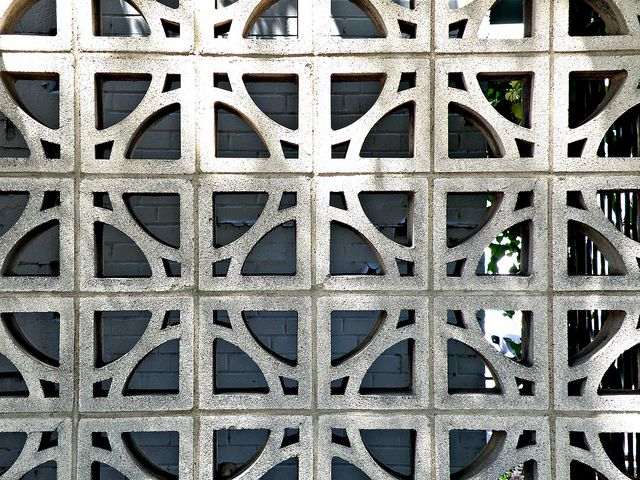 Mid Century Modern Concrete Screen Concrete Block Walls