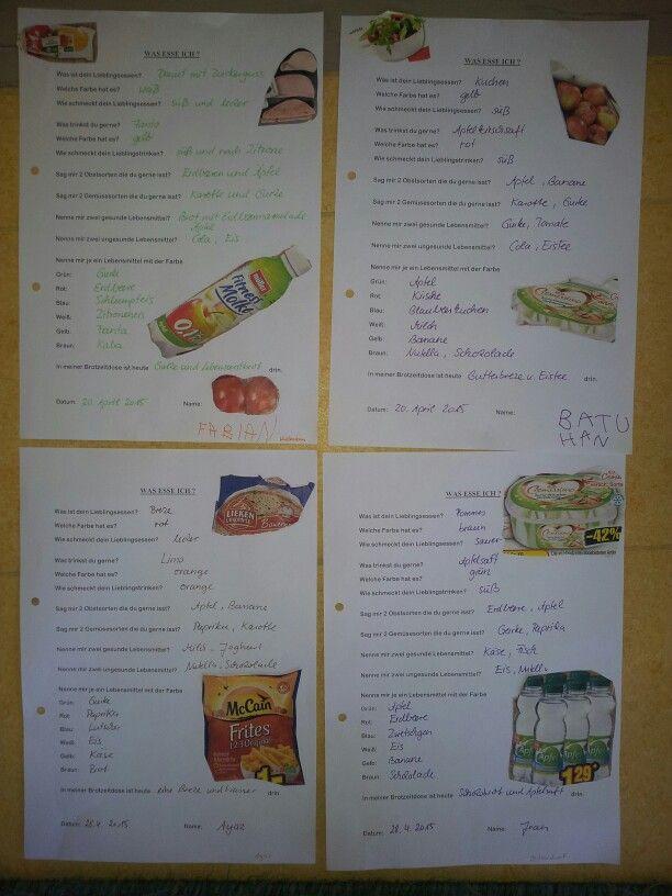 Was esse ich? Fragebogen für Kindergarten zum Thema Gesunde ...