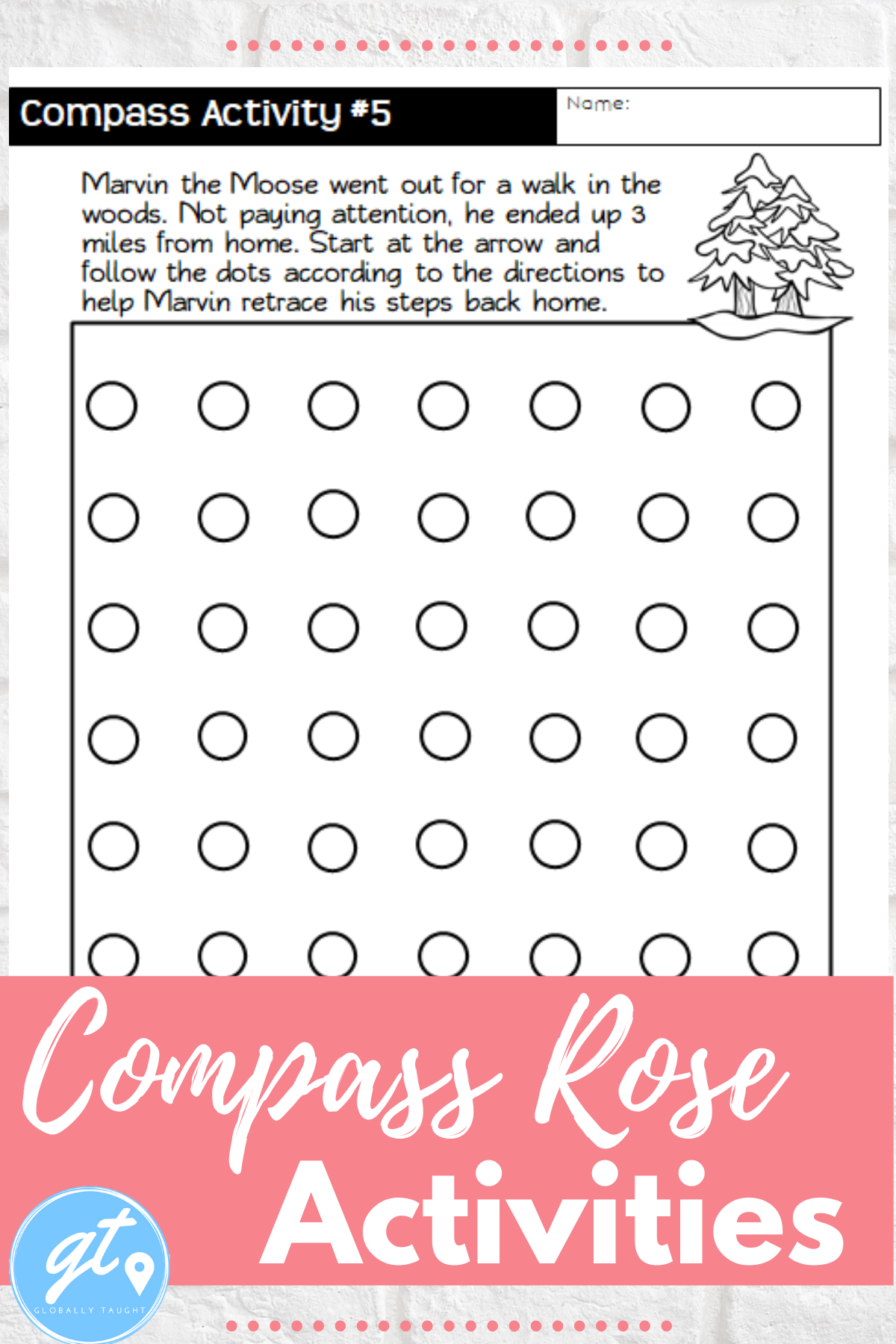 Compass Rose Lesson With Cardinal And Intermediate