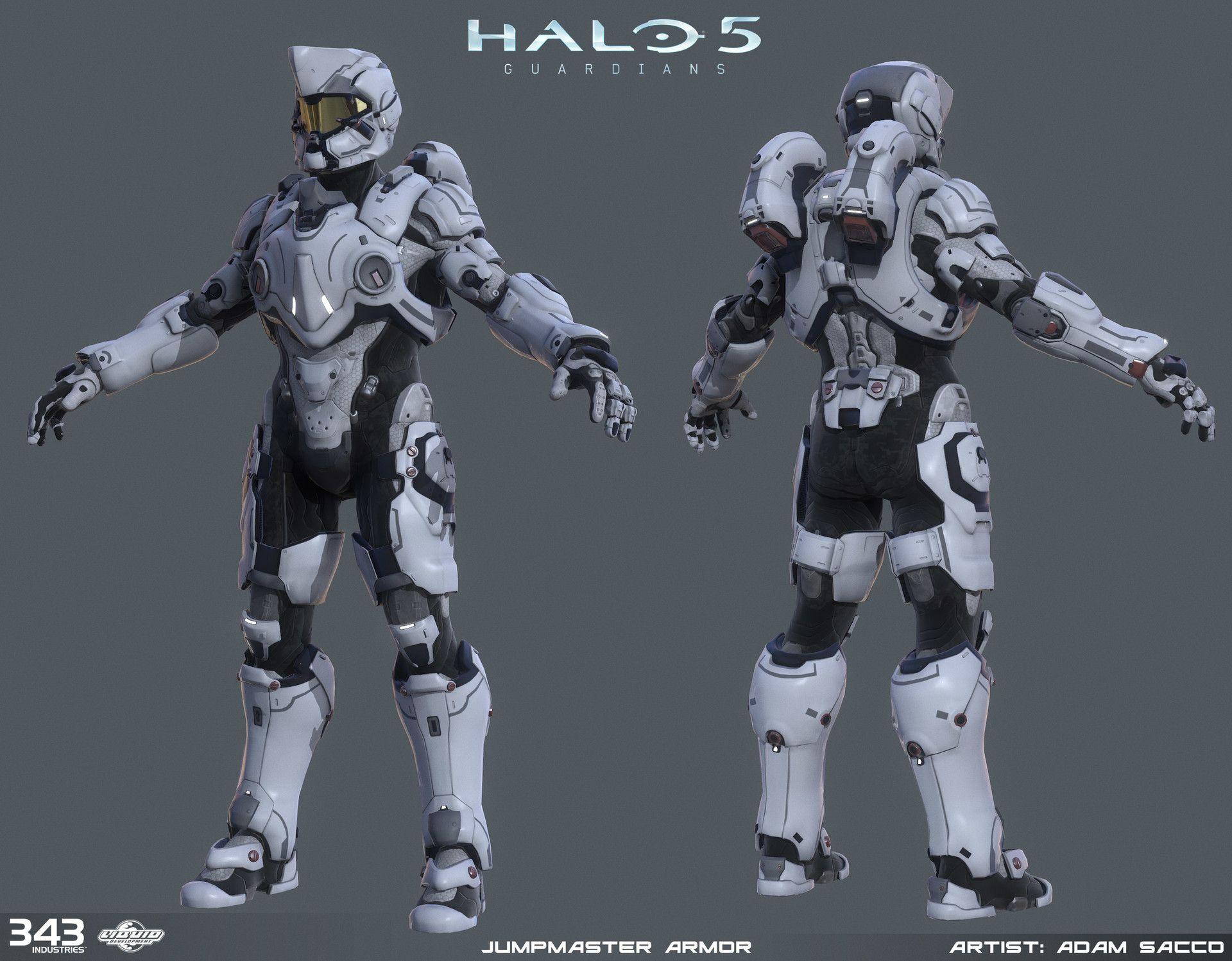 ArtStation - Halo 5 - Jumpmaster armor - 3d game model, Adam Sacco ...