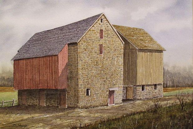 Two Amish Barns Upper Bucks County Pennsylvania An