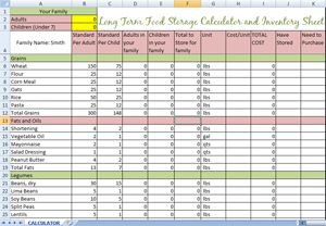 Step 4 Long Term Food Storage Planning Food Storage