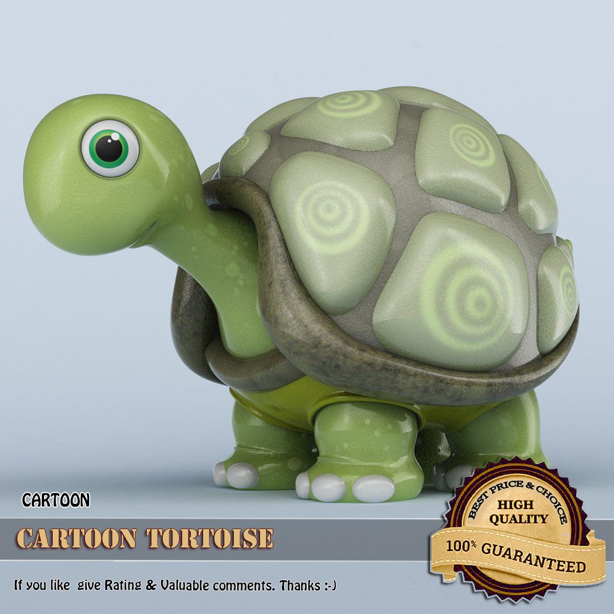 Cartoon tortoise max d model dmodeling pinterest tortoise
