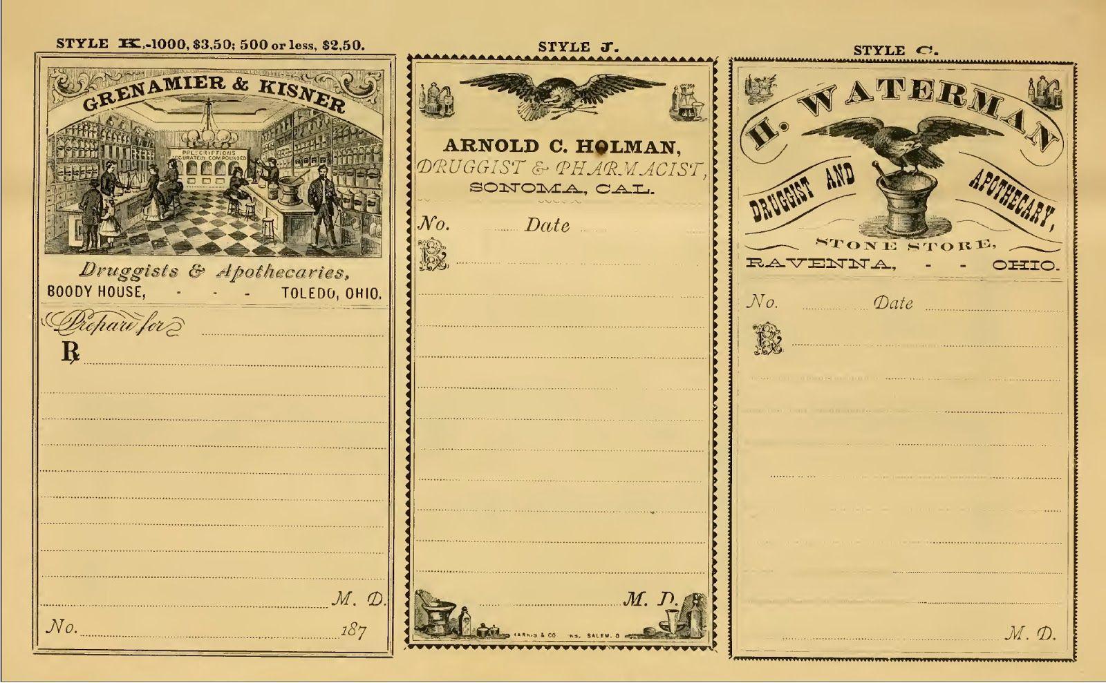 Creative digi vintage: FREE VINTAGE PHARMACY LABELS | to print