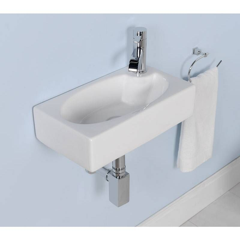 Very cute small sink side on tap orientation is v nice - Small powder room sink ...