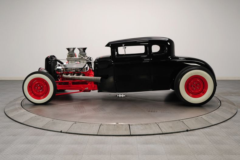 1931 Black Ford Coupe HotRod 454 Dual Quad TH400 V8 Hot