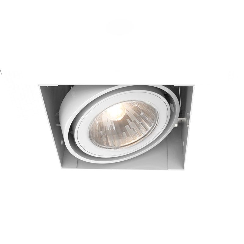 Eurofase lighting te211tr trimless multi recessed gu5 3 square trim with adjusta white recessed lights