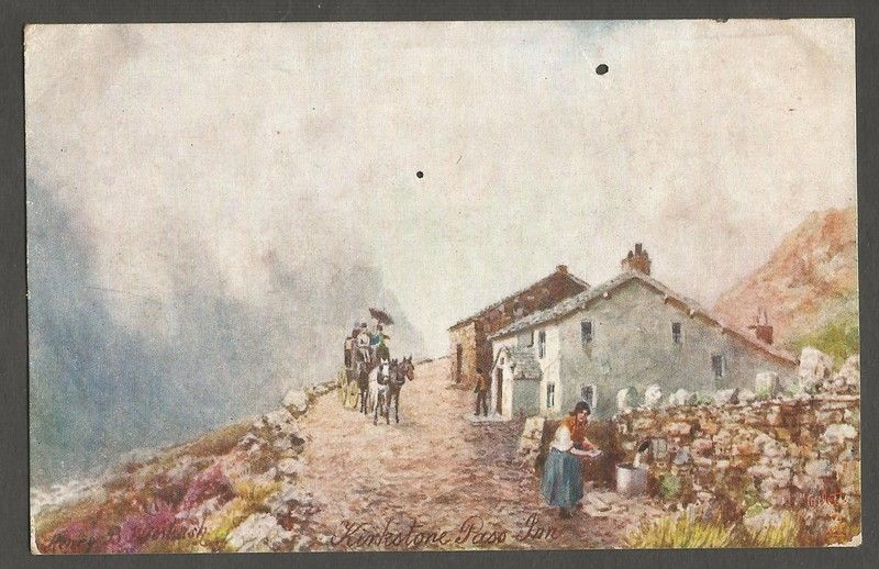 Kirkstone Post Inn. Signed H.B. Wimbush. Tuck Postcard Listing in the Artist Signed,Postcards,Collectables Category on eBid United Kingdom