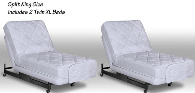 Adjustable Split King Beds 2 Twin Extra Long Size Beds Combined