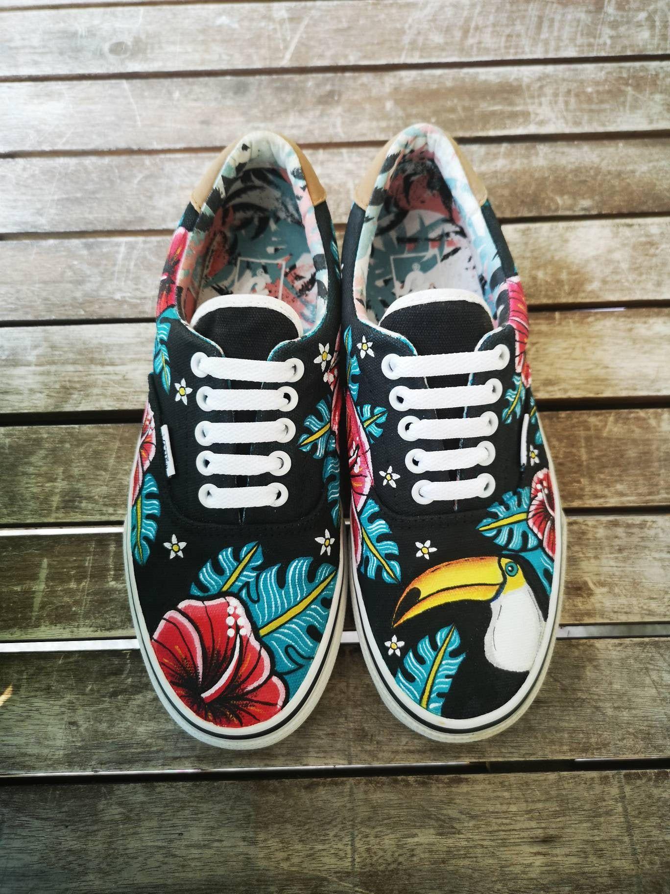scarpe vans fiori