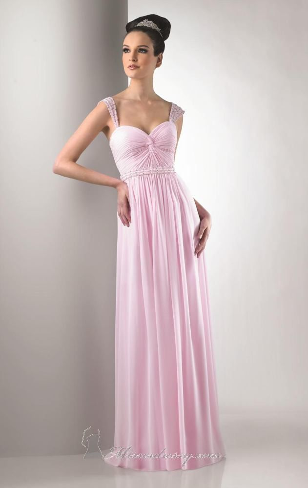 Beautiful blush bridesmaid dress Bari Jay 126 | Wedding! | Pinterest