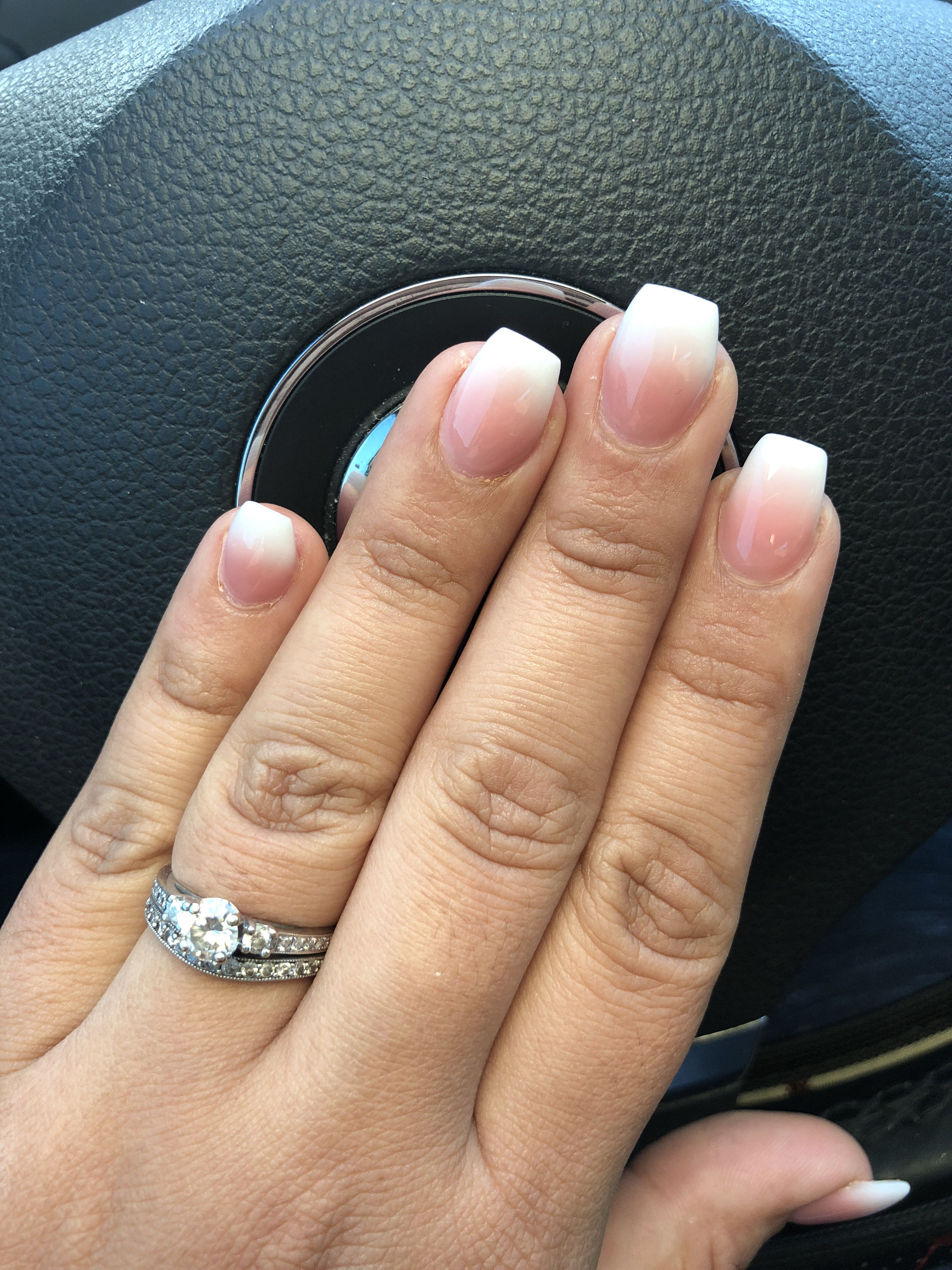 French Ombre Acrylic Nail Shapes Coffin Shape Nails Ombre French Nails