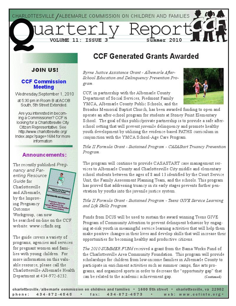 CA Ccf Quarterly Report  Annual Reports    Annual