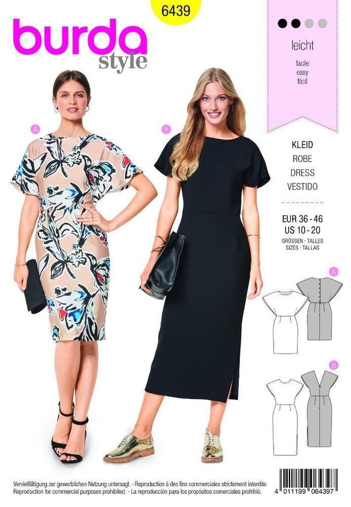 Details zu Burda Nähmuster Kleid 10-20 - 6439 | Pinterest ...