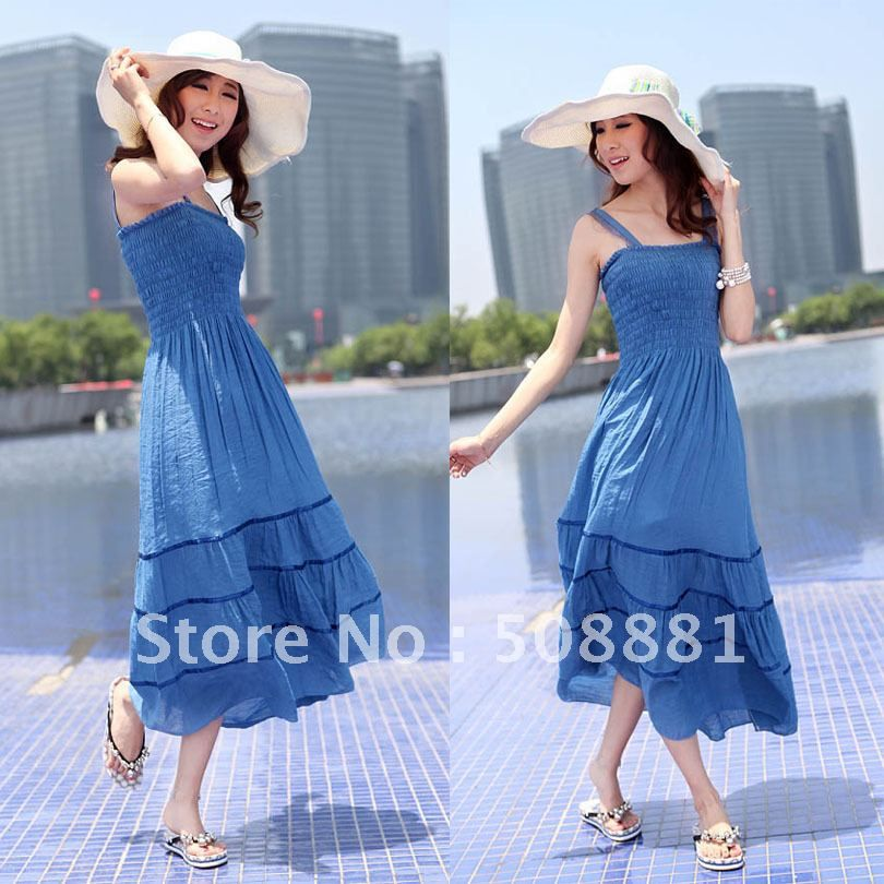2016 New Beach Dresses Summer Style Bohemian Casual Long Dresses ...