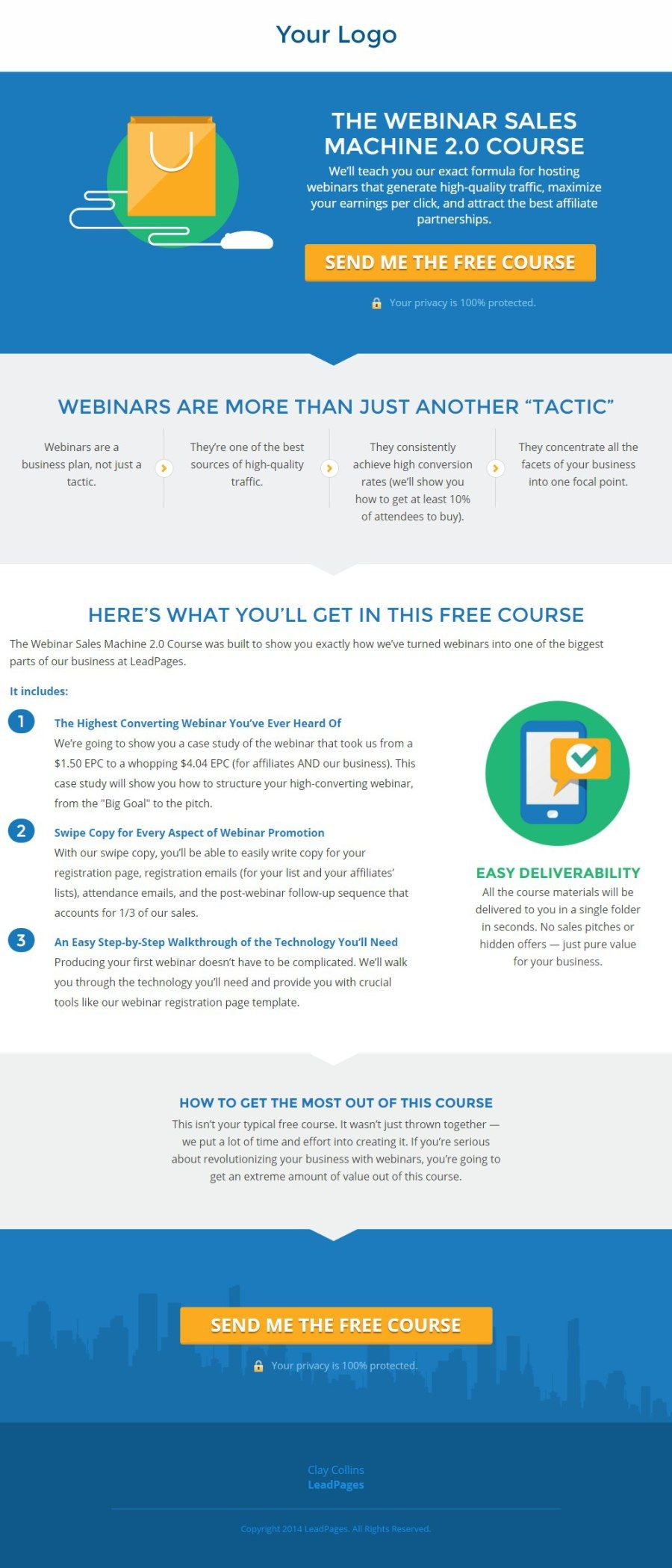 White Paper Landing Page   Free Template  Free White Paper Templates