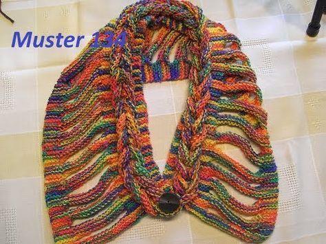 Muster 134*Zopf Schal *Rapunzel Schal einfach stricken* Tutorial ...