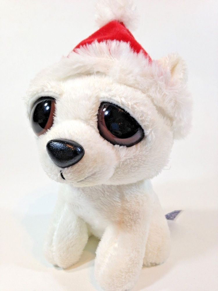 ace321073ed Aurora Big Eyes Christmas Polar Bear Plush with Sound Holiday Collectible  6
