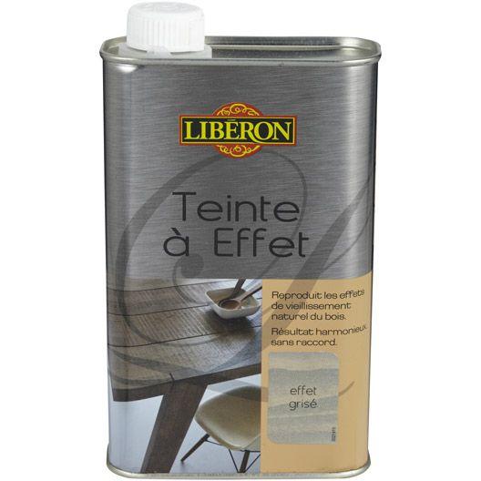 Teinte A Effet Liberon 0 5 L Effet Grise Liberon Peinture Effet Bois Teinte Bois