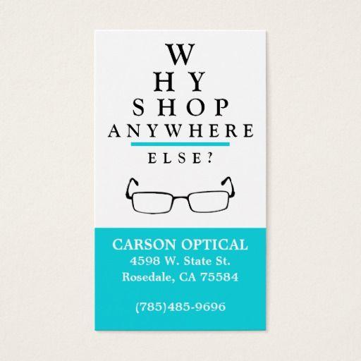 Optical Shop Business Card Zazzle Com Business Card Template Optical Shop Doctor Business Cards