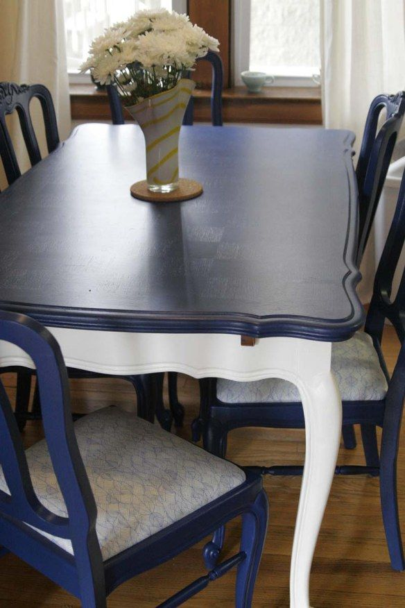 Before And After Kitchen Table And Chairs Blue Dining Tables