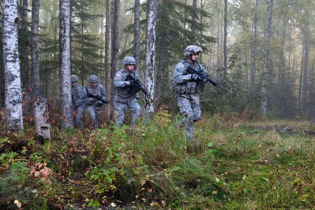U.S. Army Alaska Soldiers train on Fort Richardson.