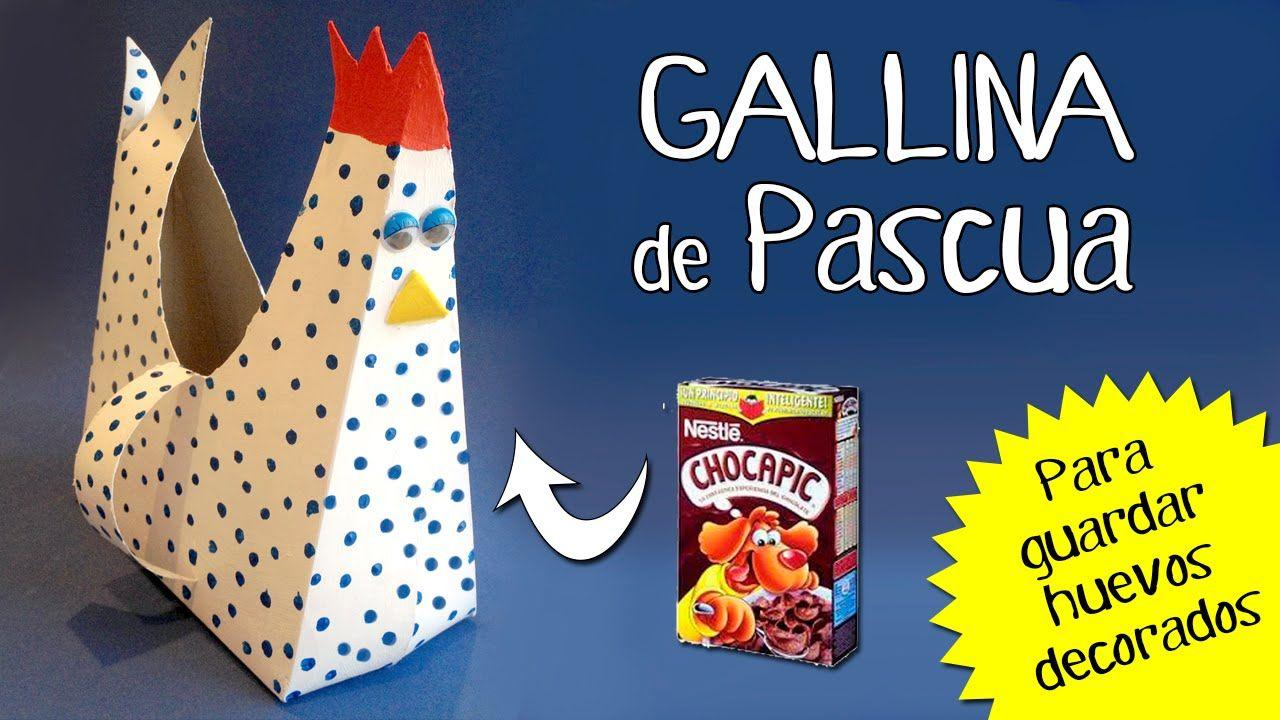 Diseña esta divertida gallina de cartón para colocar los huevos de ...