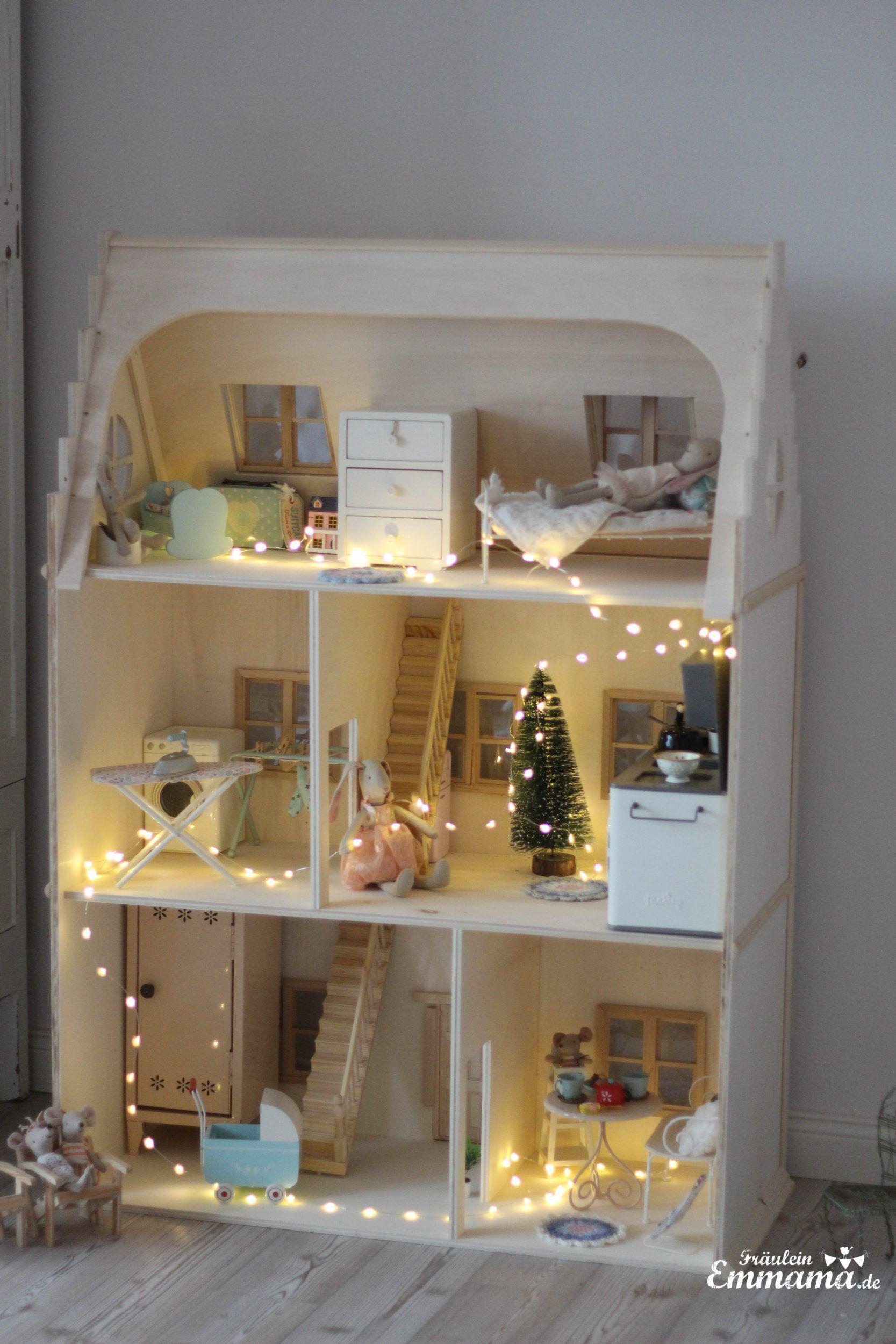 DIY Puppenhaus im viktorianischen Stil für Maileg selber bauen Fräulein Emmama