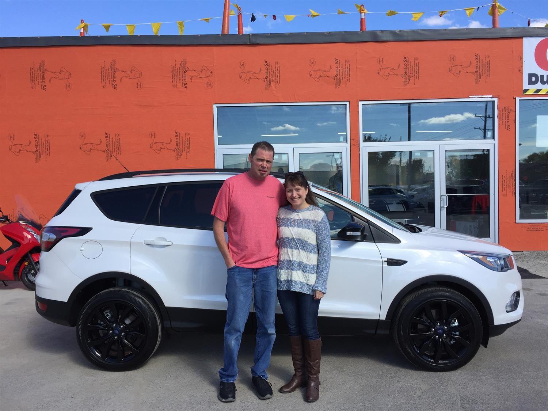 Dennis and Alicia's new 2017 Ford Escape! Congratulations