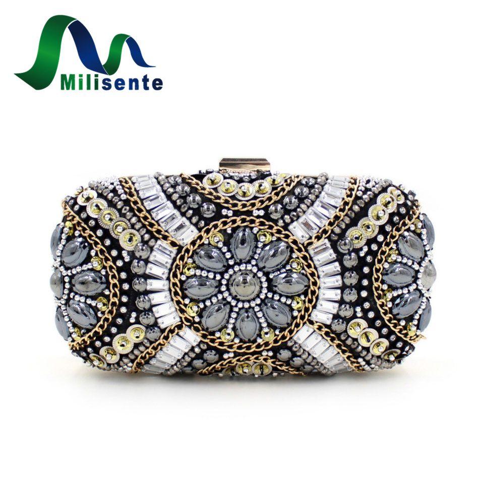 Fashion Women Luxury Mini Beaded Evening Bags Wedding Day Clutches Party Purse Eveningbags Small Bouquet Handbag