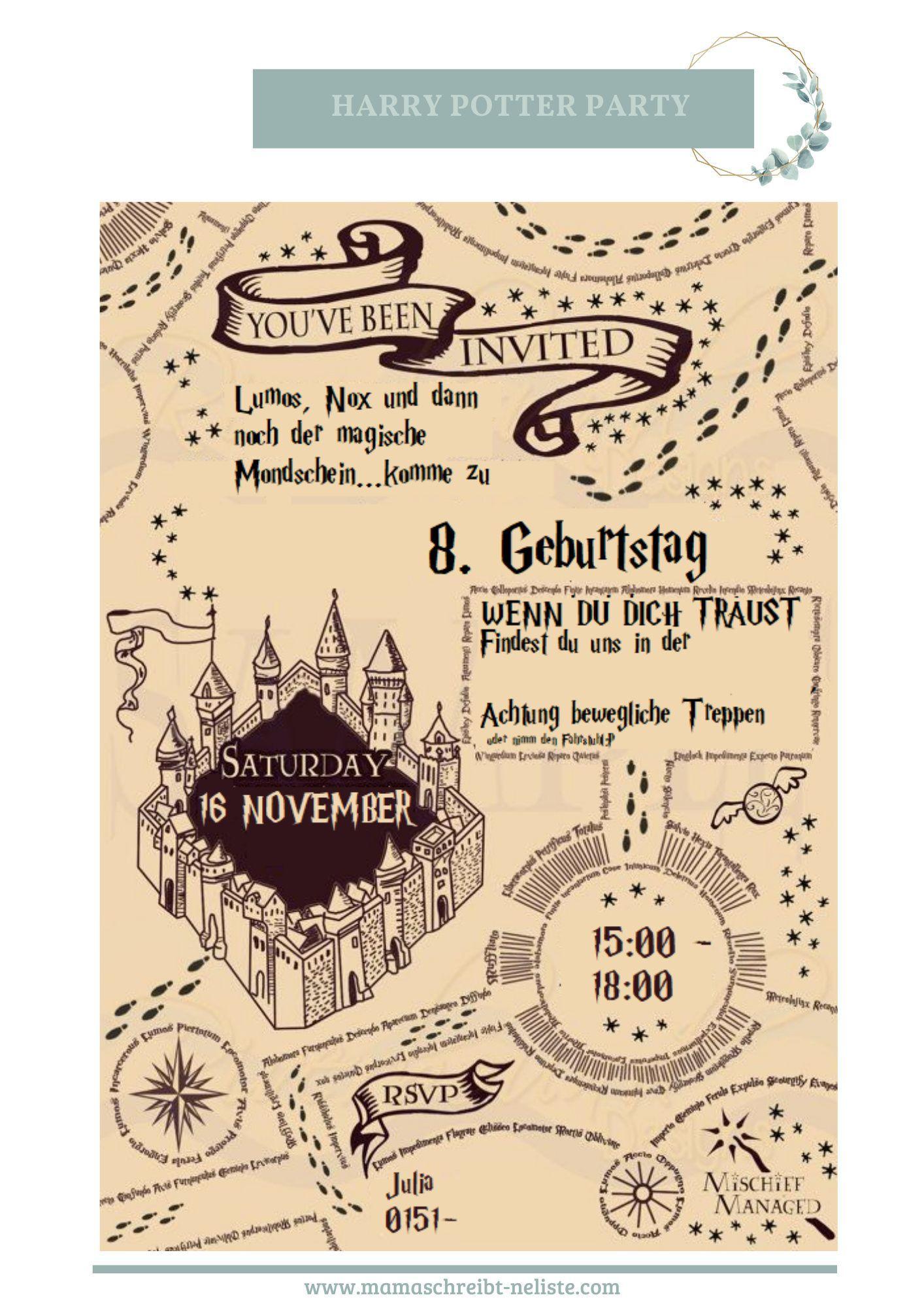 Reise Nach Hogwarts Unser Harry Potter Geburtstag Anleitung Harry Potter Geburtstag Harry Potter Thema Harry Potter Geburtstagsparty Ideen