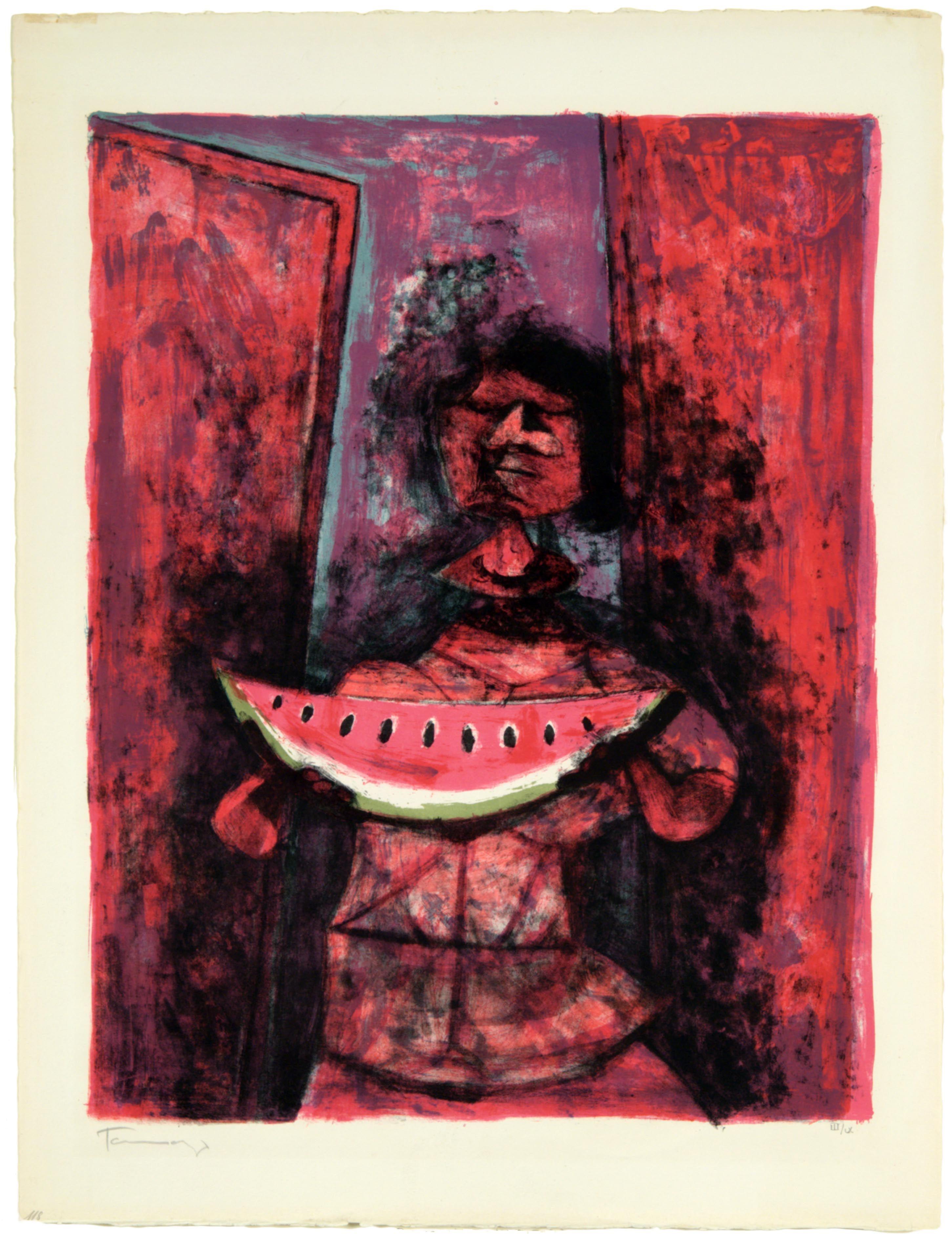 Moon Dog by Rufino Tamayo   Paper Print Repro