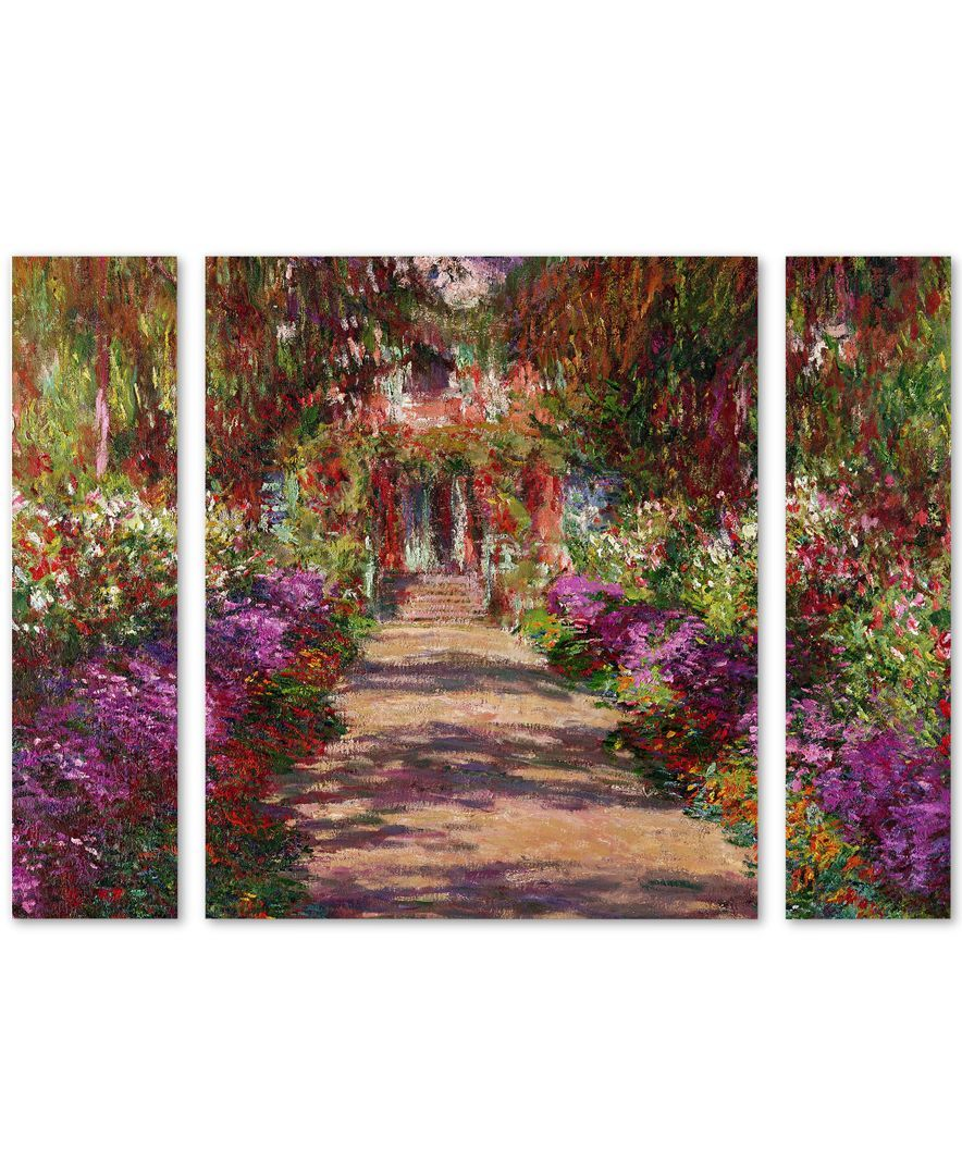 Claude monet ua pathway in monetus gardenu large multipanel wall