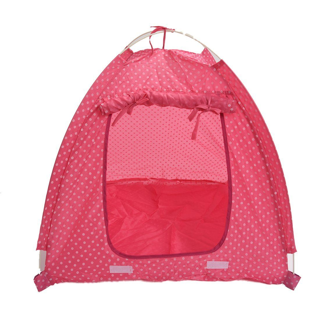 TOOGOO(R) Pet Kitten Cat Puppy Dog Mini Nylon Camp Tent Bed Play House pink-L * Want additional info? Click on the image. (This is an affiliate link and I receive a commission for the sales)