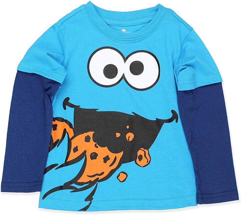 Sesame Street Toddler Boys Long Sleeve Tee Baby//Toddler