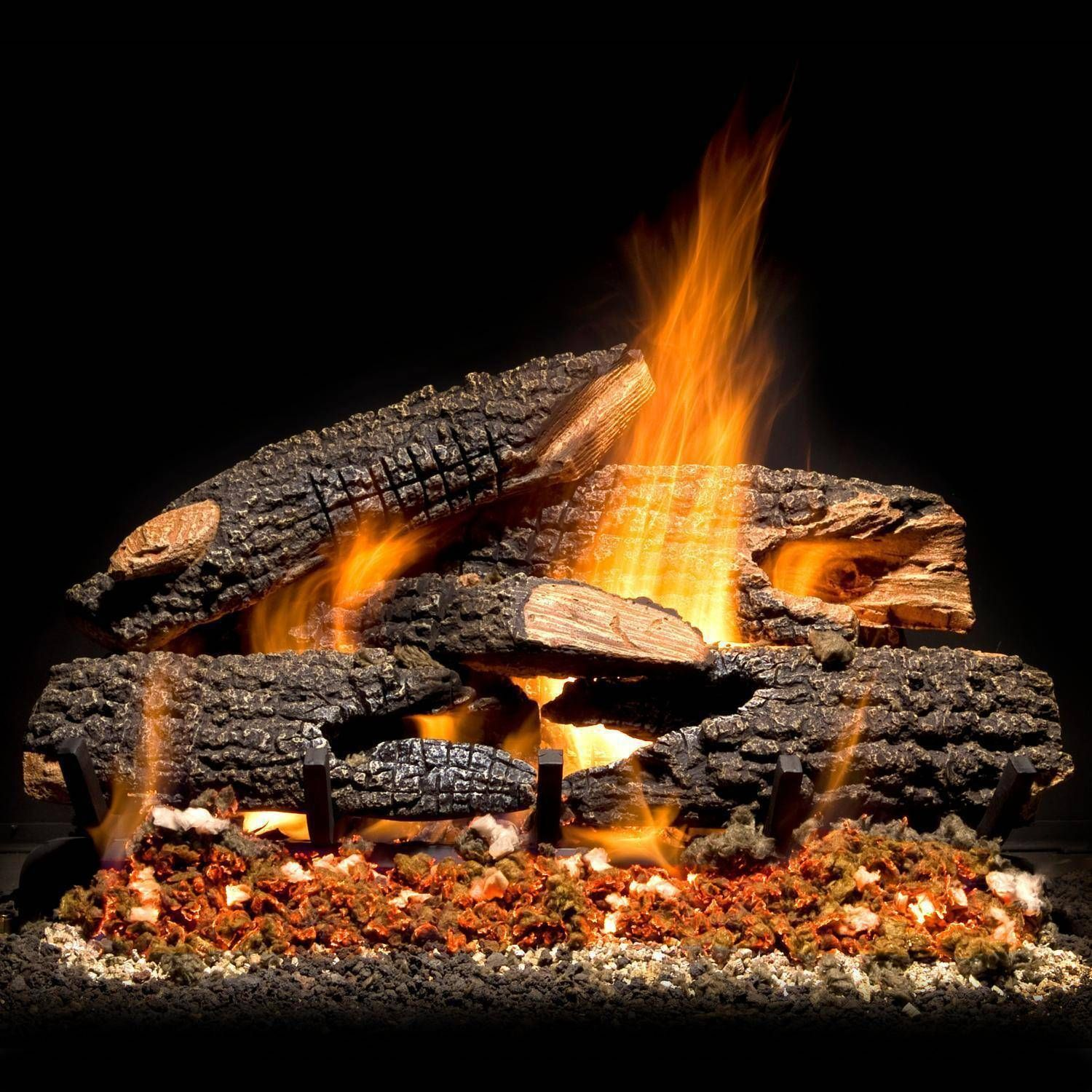30 In Extra Large Natural Gas Fireplace Logs Set Vented Decorative
