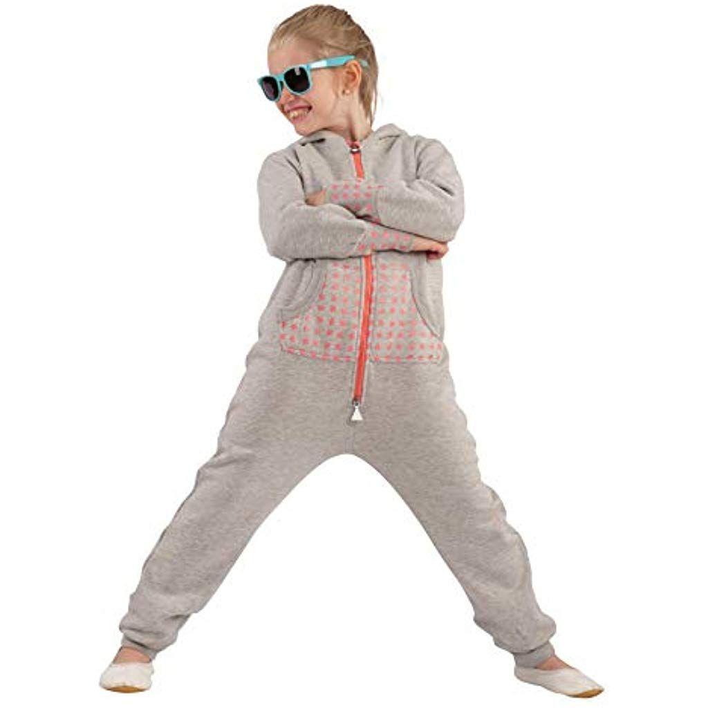 OPoppy Kinder Jumpsuit einteilig Jungen Mädchen Overall Kids