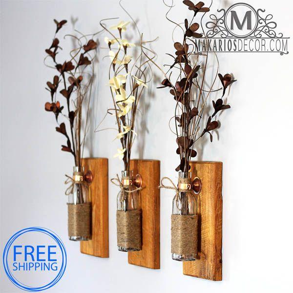 Ideas rusticas para decorar tu casa manualidades for Decoraciones rusticas para el hogar