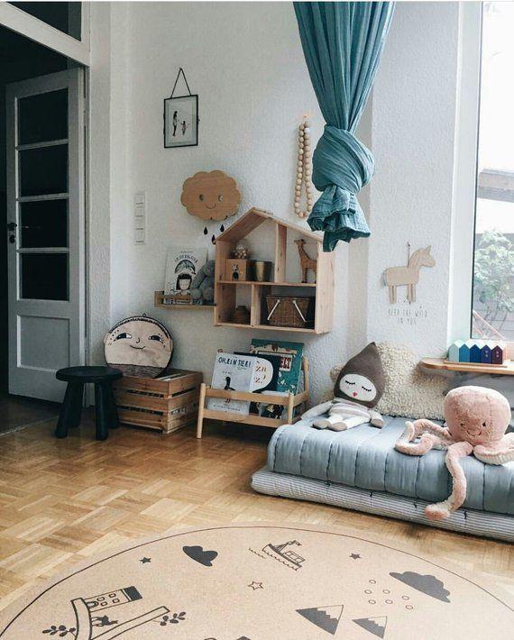 Baby Boy Nursery Round Area Rugs Kids Decor Baby Shower Kids
