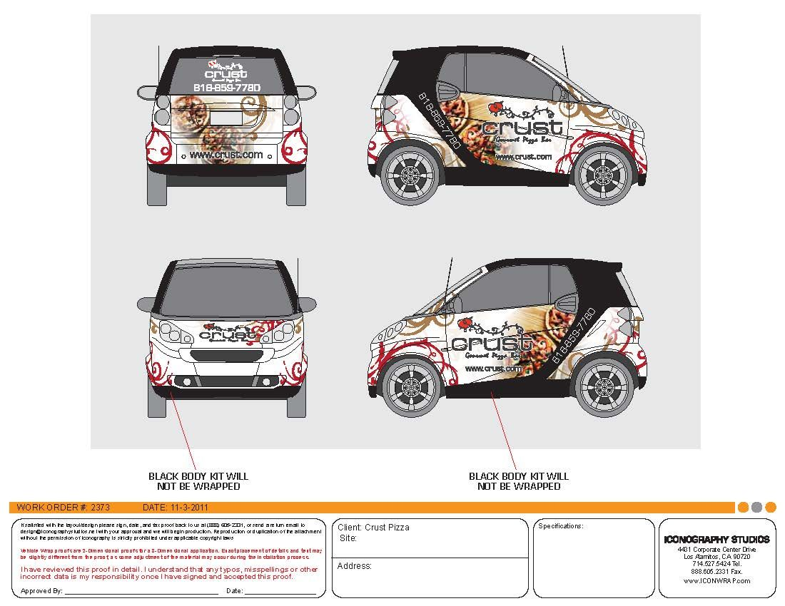Custom Smart Car Wrap Design By Iconography Vehicle Wrap Designs - Vehicle decals for business application