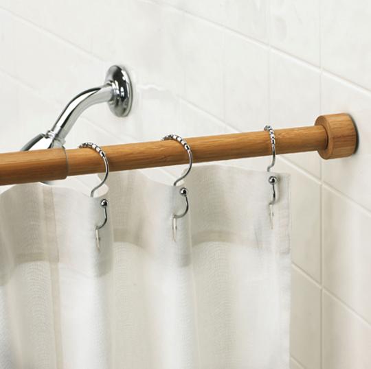 Bamboo Tension Rod From Umbra Bathroom Shower Organization