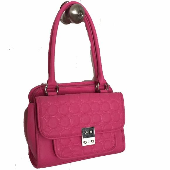 LULU By Lulu Guinness Handbag Hot pink medium sized handbag. Will fit an iPad with room to spare. Cute sassy and professional. Hardly used. Like new. No blemishes. Smoke free home. Lulu By Lulu Guinness Bags