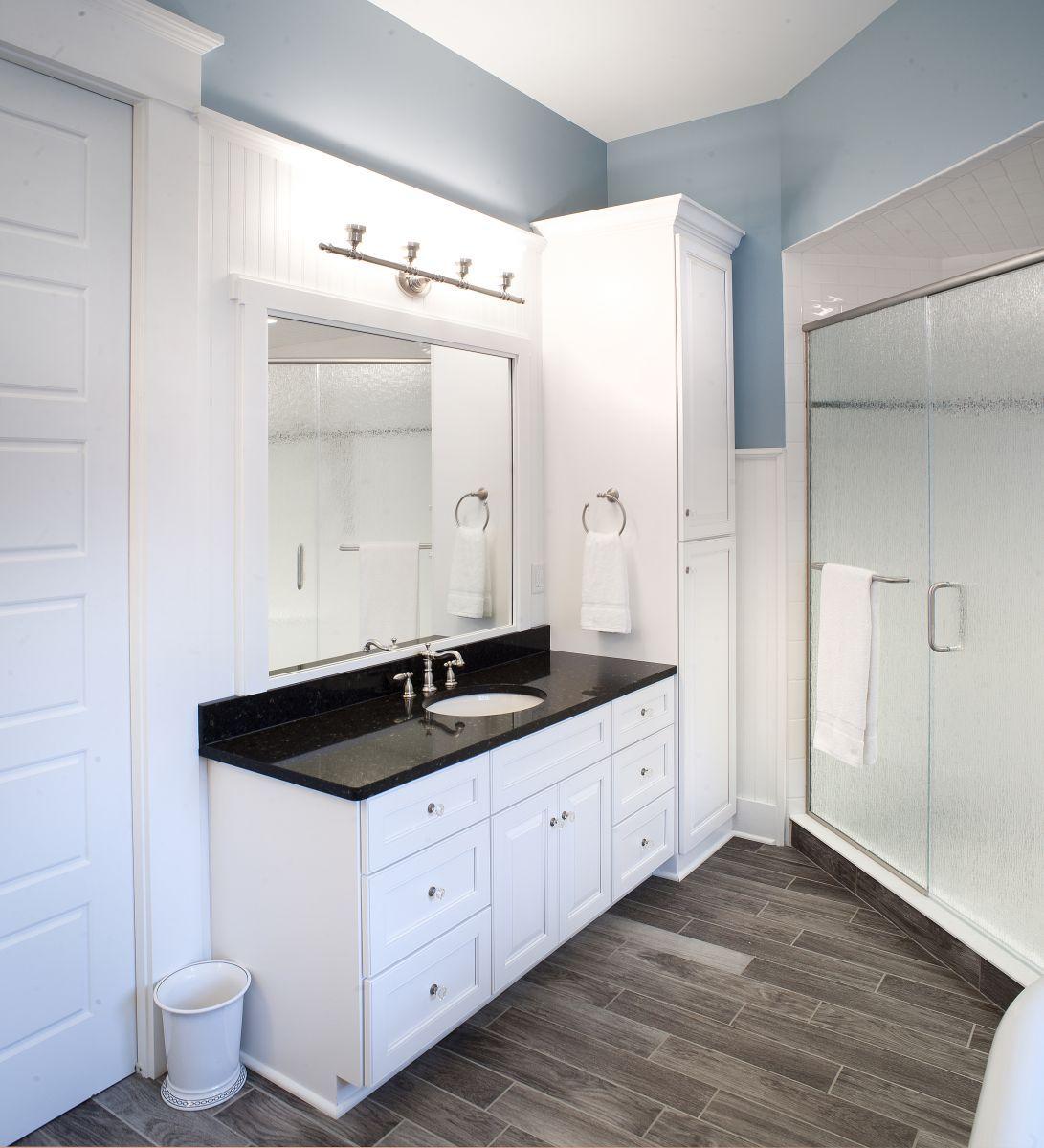Modern Bath With Vanity Linen Cabinet White Cabinetry Pinterest Modern Baths Linen