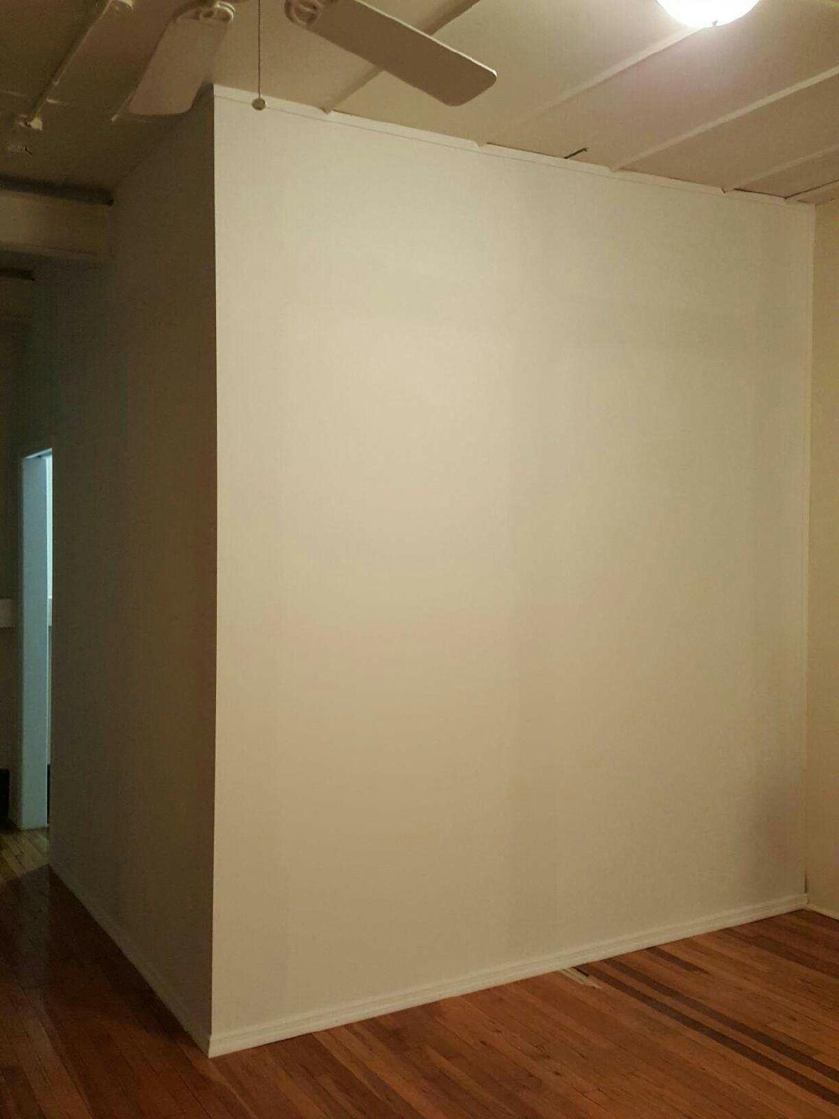Seamless L Shape Temporary Wall Installation Call Us For All Your Custom Room Divider Inquiries 646 Temporary Wall Storage Solutions Diy Wall Installation