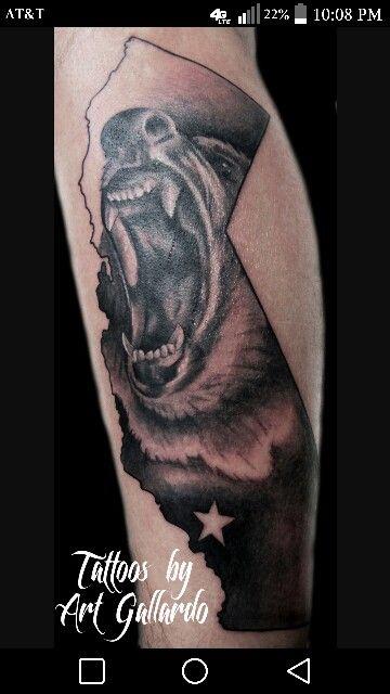 4de404551 Ferocious bear tattoo | Projects to Try | California bear tattoos ...