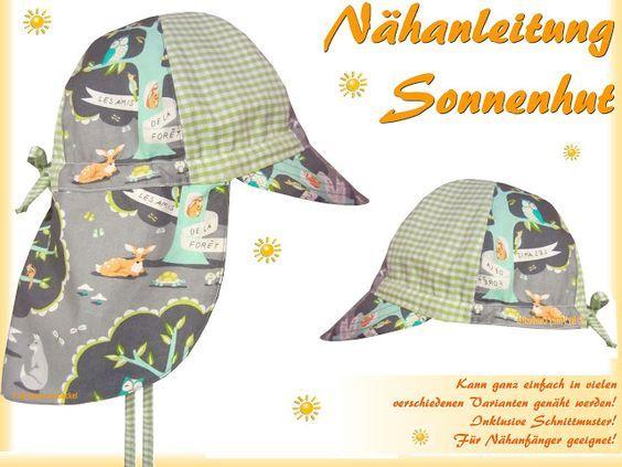 Sonnenhut, Sommerhut für Kinder mit Krempe selber nähen ...