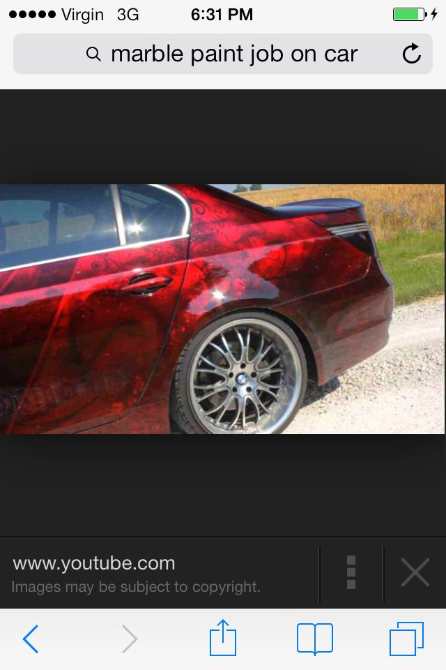 Red Marble Paint | Saleen/GT Ideas | Candy paint, Car paint jobs