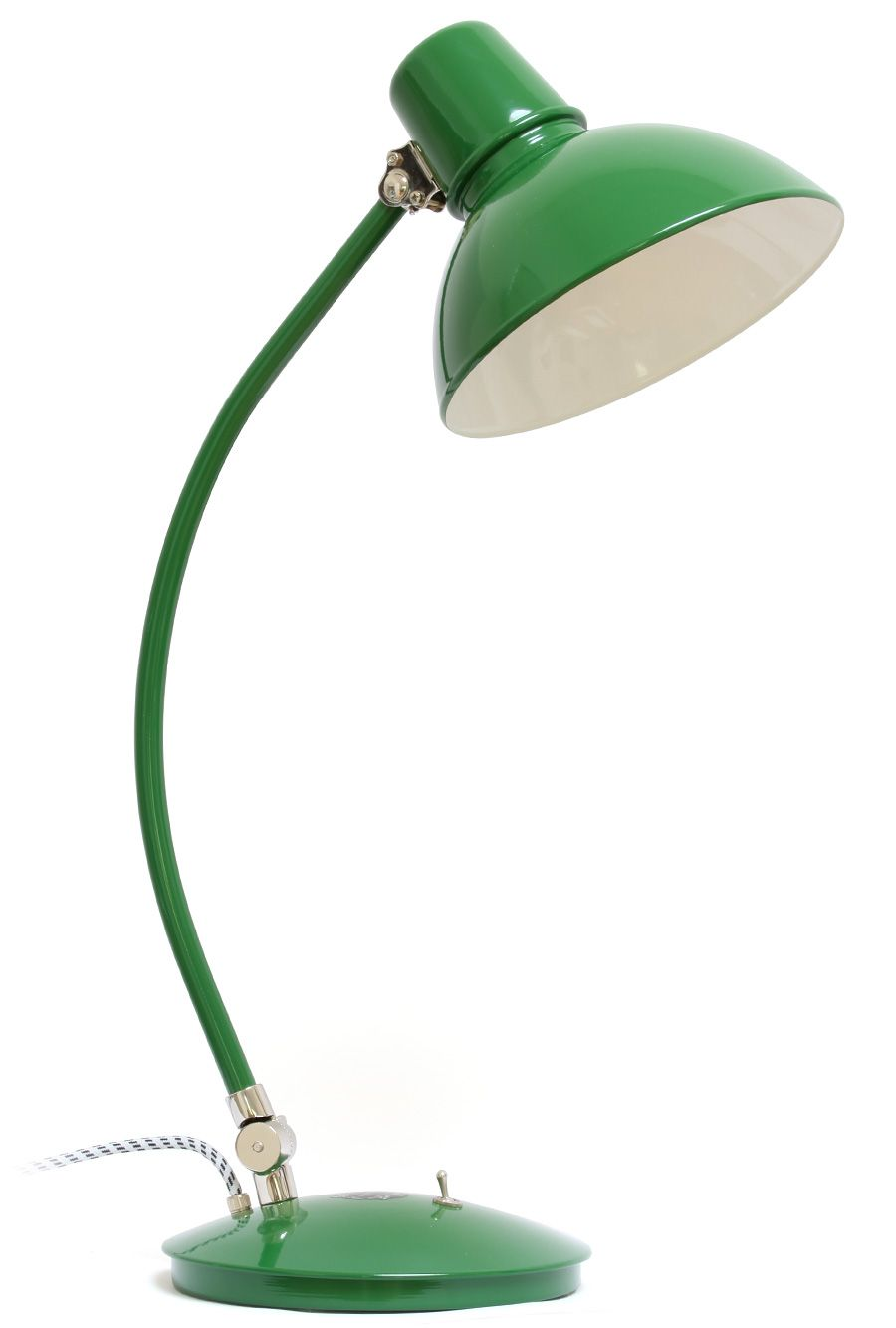 gr ne schreibtischleuchte im bauhaus stil bolichwerke modell frankfurt tisch lighting. Black Bedroom Furniture Sets. Home Design Ideas