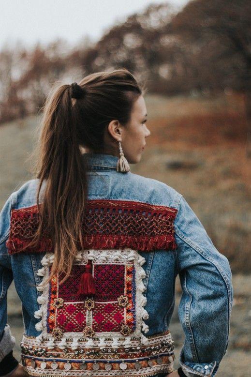 www.artemisia.me  #boho #embellished #jacket #bohemian #gypsy #style #fashion #denim #vintage #levis